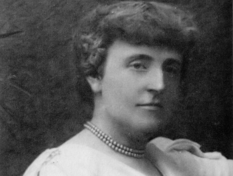 """Frances Hodgson Burnett, author of the """"The Secret Garden."""""""