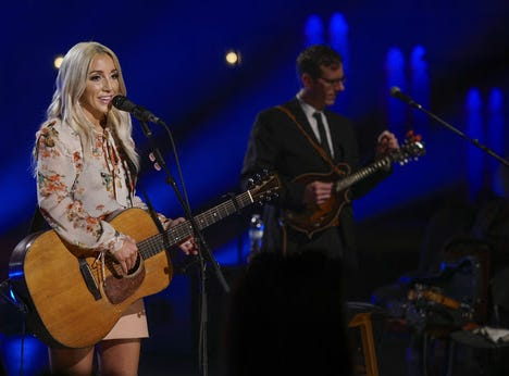 Knoxville's Ashley Monroe performs in a live-streamed concert at the Tennessee Theatre, which was broadcast to Congress Park in Chicago.