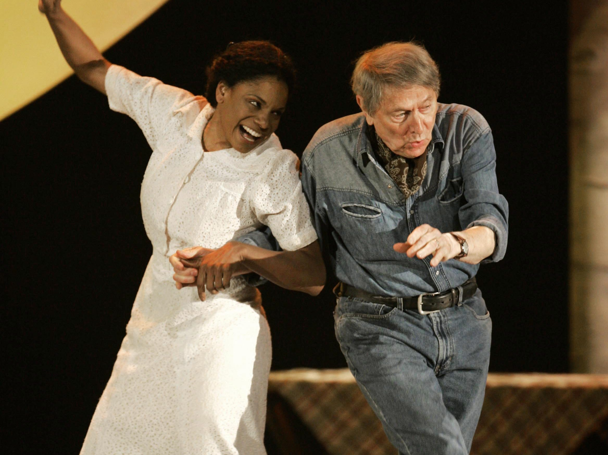 "Audra McDonald and John Cullum perform a number from ""110 in The Shade"" at the 61st Annual Tony Awards in New York, Sunday, June 10, 2007."