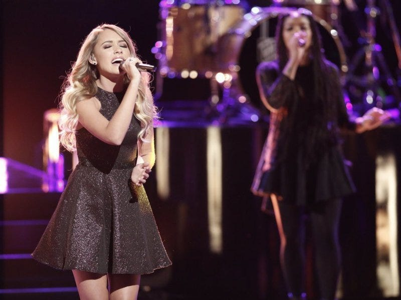 "Knoxville's Emily Ann Roberts performs during ""The Voice"" Top 10 live shows. Karns High School junior Emily Ann Roberts sings during ""The Voice"" live show on Monday night."