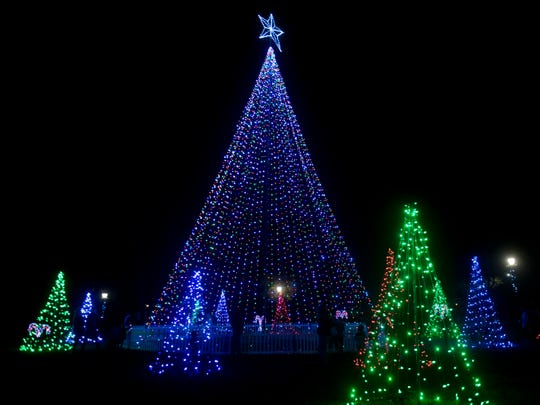 The Town of Farragut's Founders Park has been decorated with 68,000 lights for the holidays. Hundreds of people attended the Countdown to Light the Park ceremony Nov. 26, 2018.