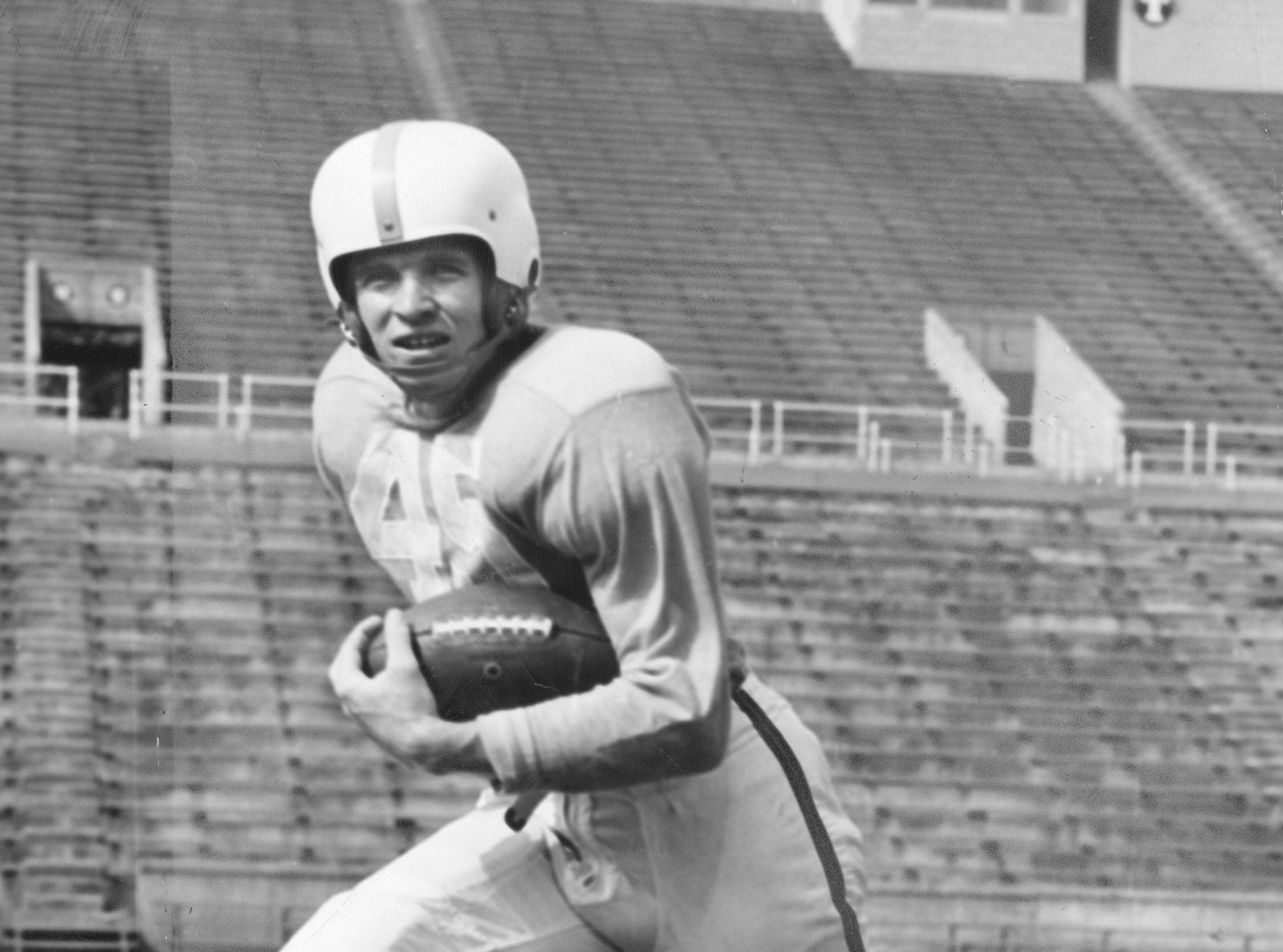 Johnny Majors when playing for Tennessee in the 1950's.