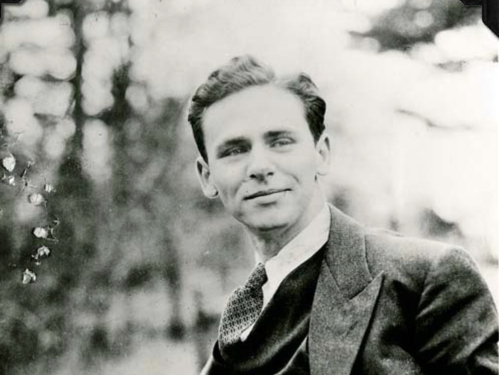James Agee when he was a student at Harvard University.