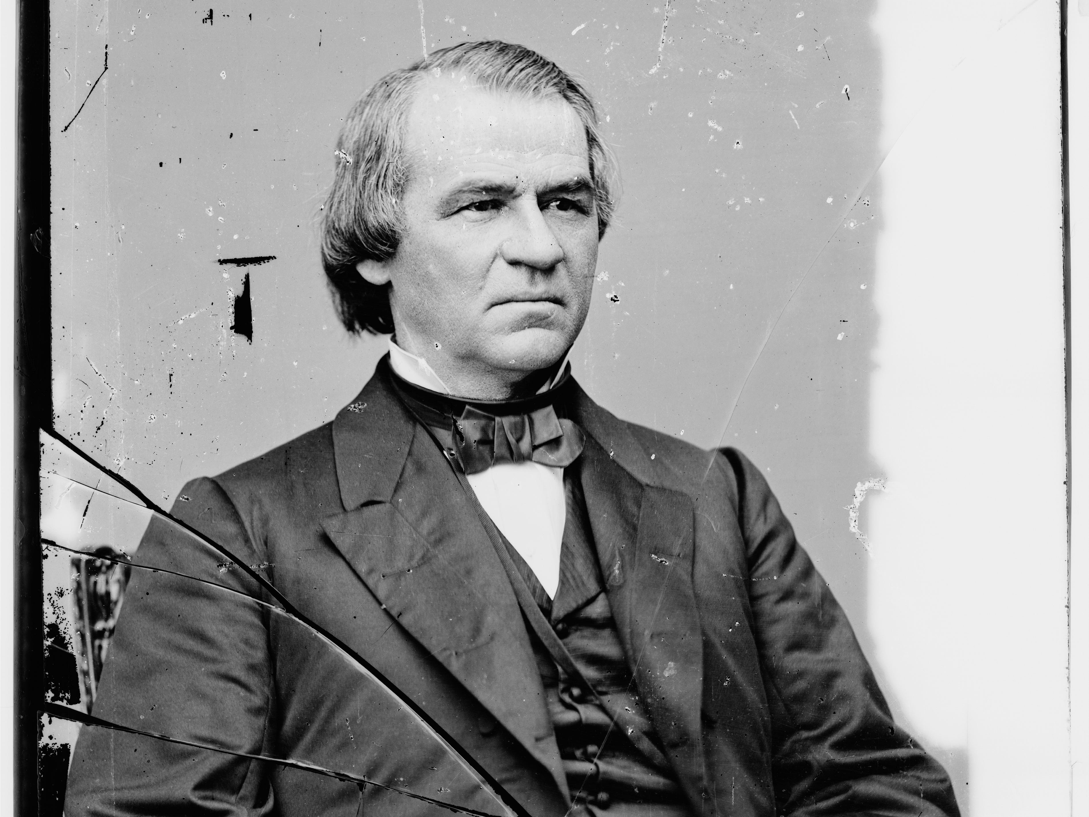 Andrew Johnson, 1808 -1875, 17th President of the United States.