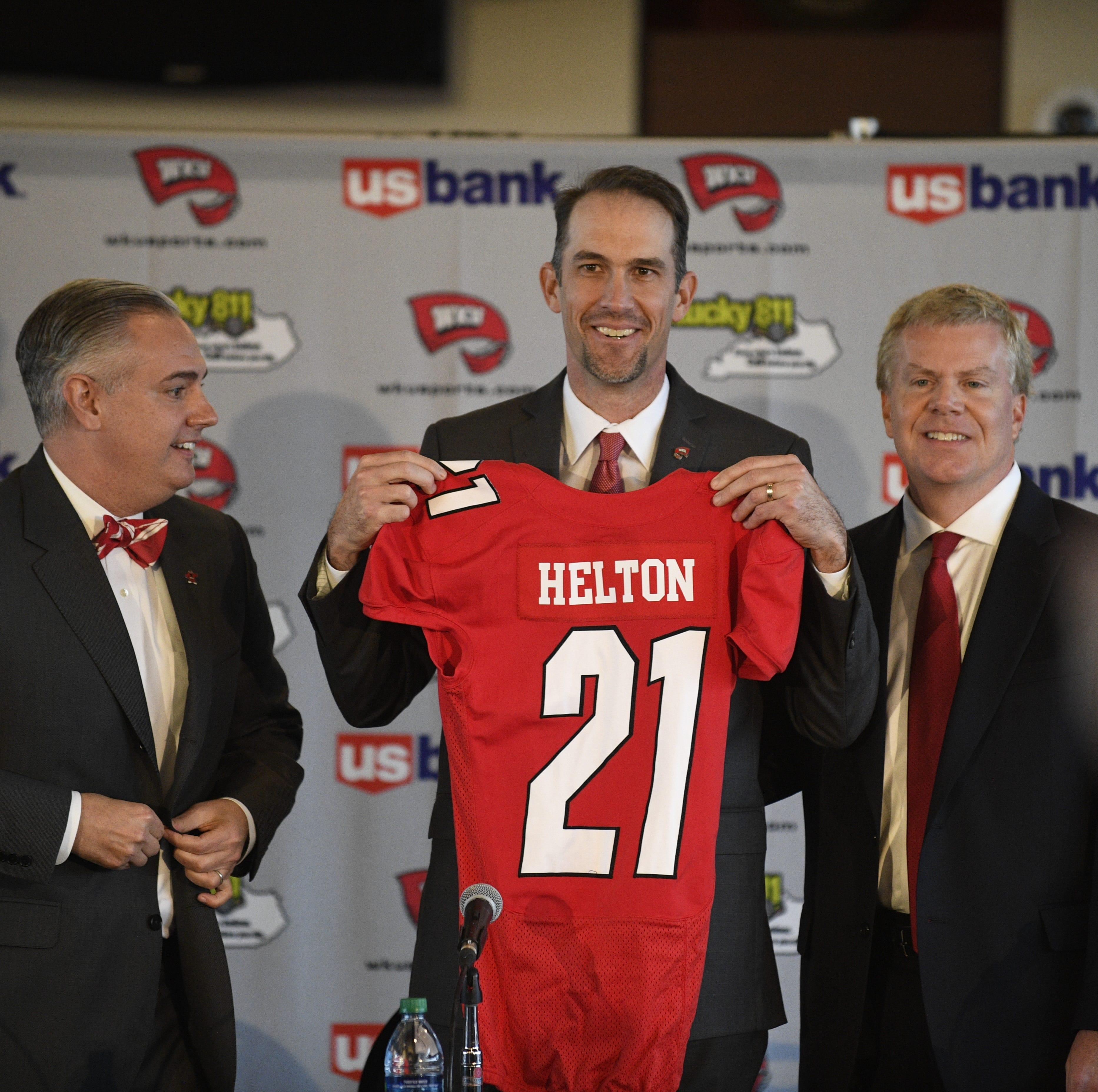 Western Kentucky's new head football coach Tyson...