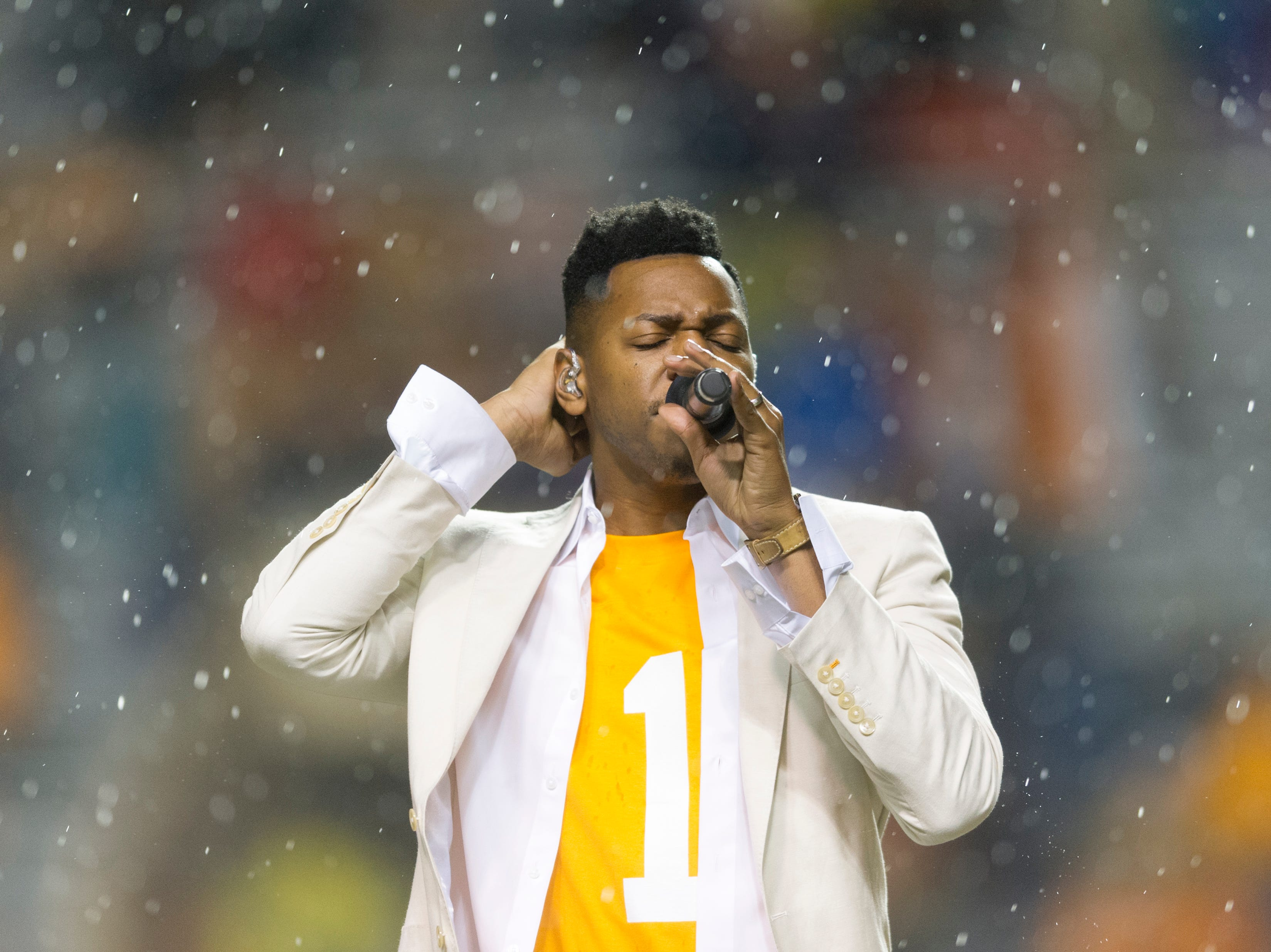 Chris Blue performs during a game between Tennessee and LSU at Neyland Stadium in Knoxville, Tennessee, on Saturday, Nov. 18, 2017.