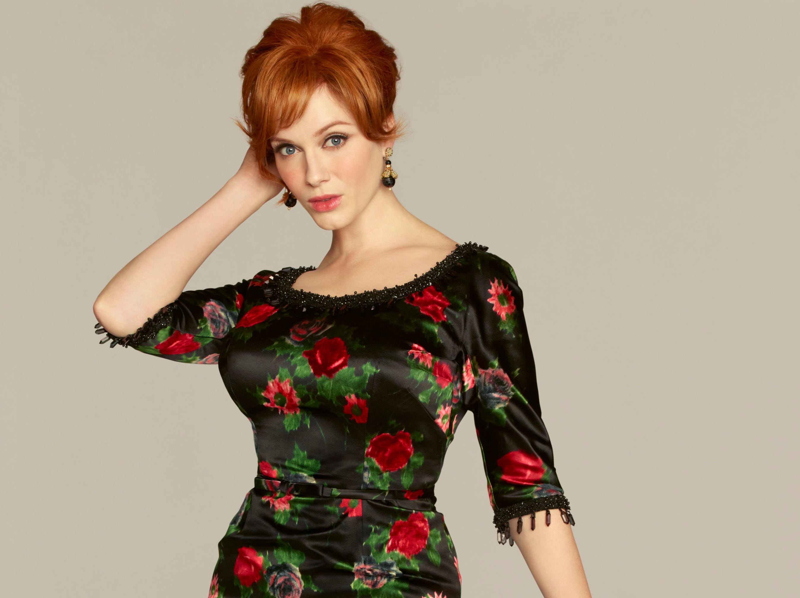 "Joan Harris (Christina Hendricks, a Knoxville native) has her hands full on the season opener of ""Mad Men."""