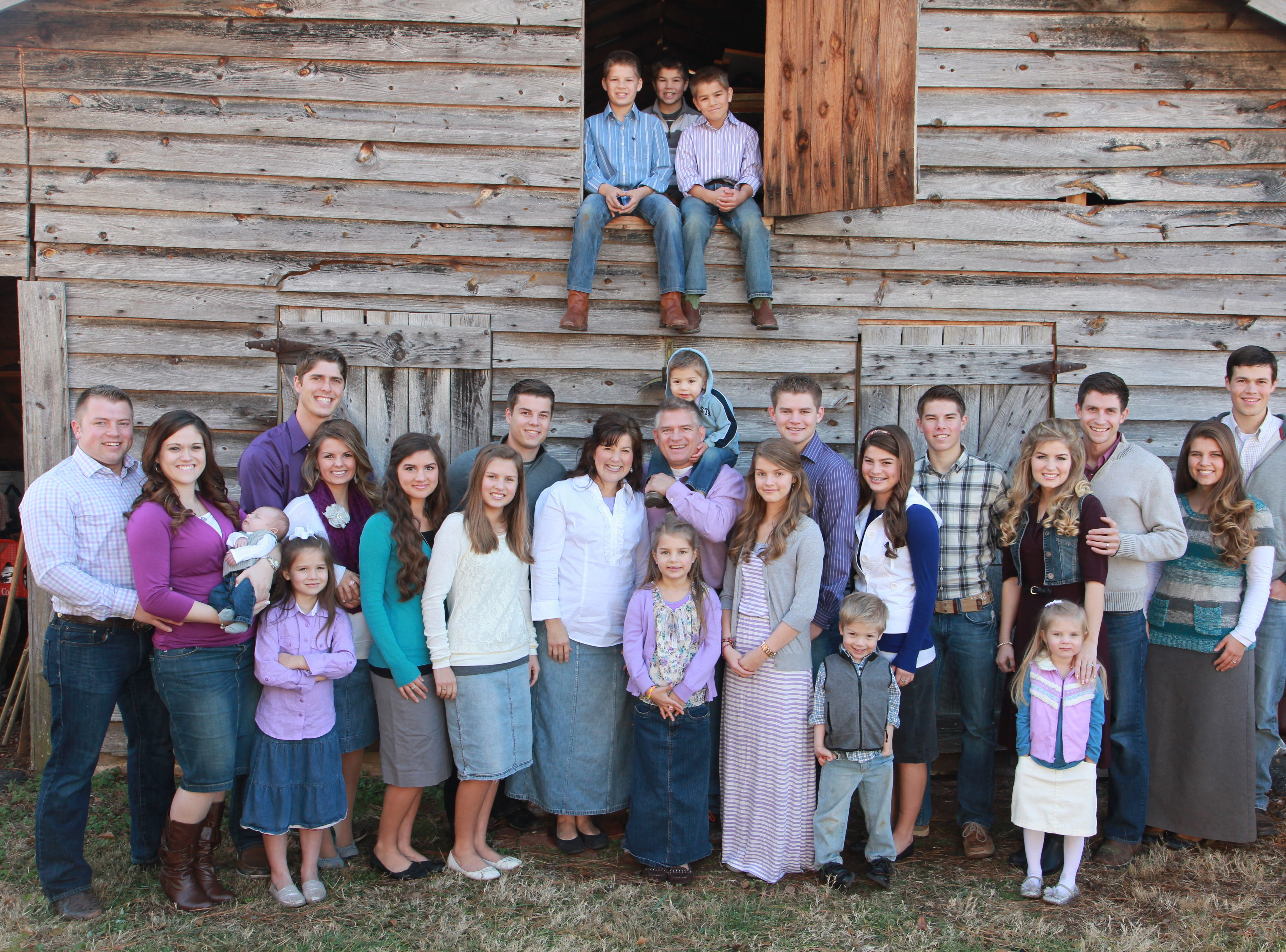 "Members of the Bates family from Rocky Top, Tenn., are pictured in a publicity photograph from the UP Network. They are the stars of a television reality show called ""Bringing Up Bates"" that premiered Jan. 1 with the strongest rating ever for the UP Network, with more than 500,000 viewers."