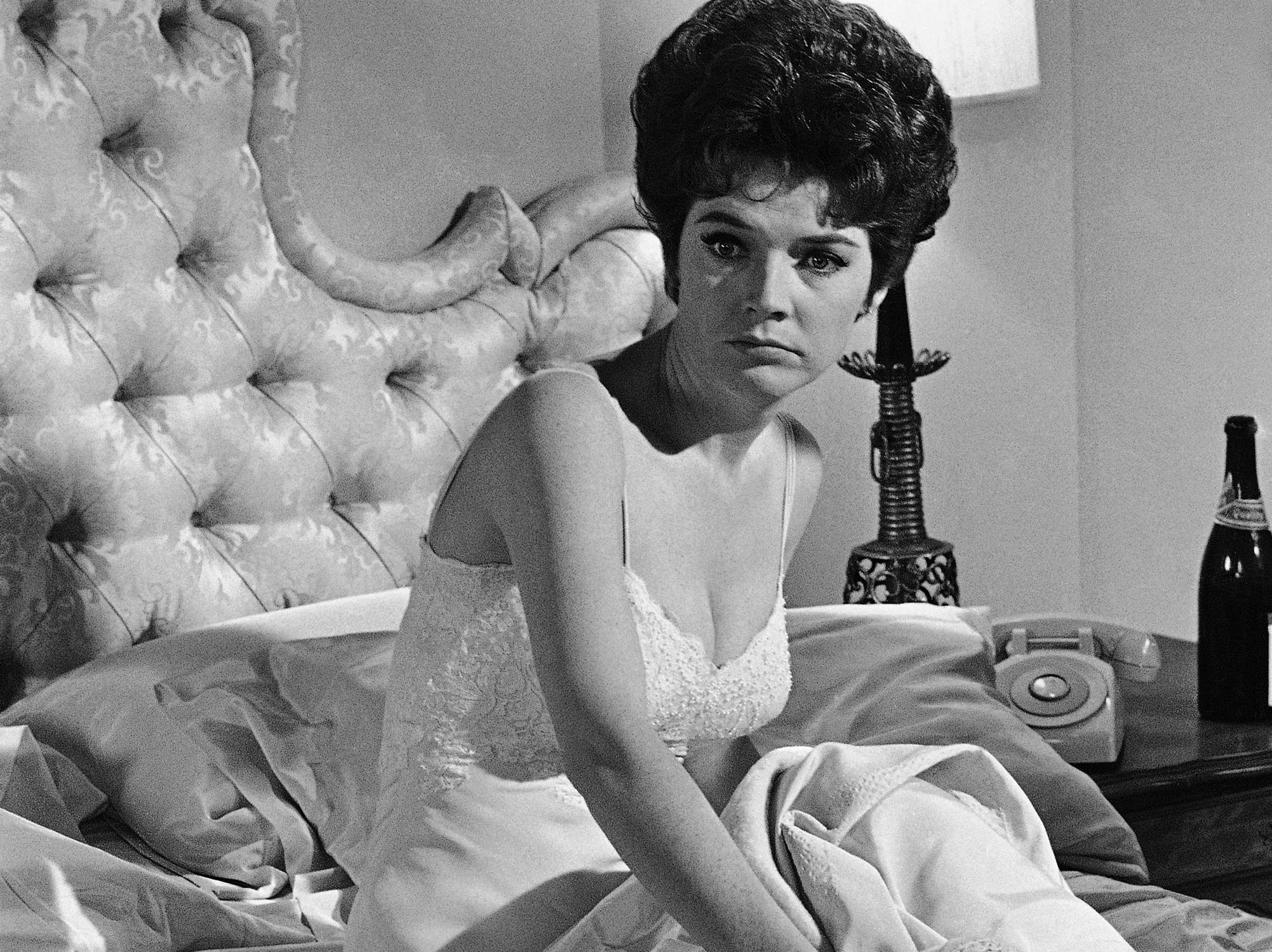 "In this July 18, 1963, file photo, actress Polly Bergen works on a scene during the filming of ""Move Over, Darling,"" in the Hollywood section of Los Angeles. Bergen, an  Emmy-winning actress and singer, who in a long career played the terrorized wife in the original ""Cape Fear"" and the first woman president in ""Kisses for My President,"" died Saturday, Sept. 20, 2014, at her home in Southbury, Conn., publicist Judy Katz said. She was 84."