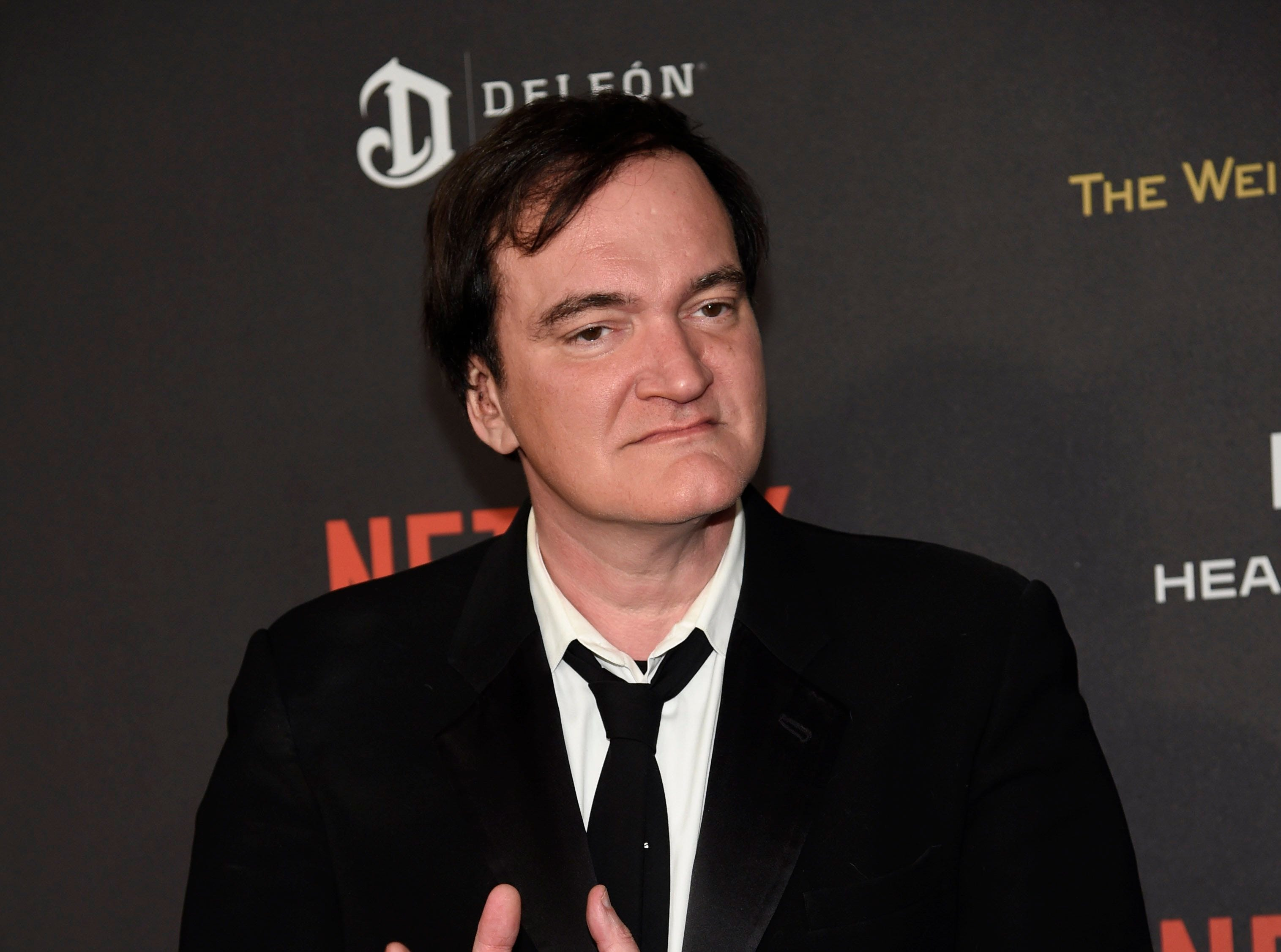 Knoxville-born director Quentin Tarantino arrives at a Golden Globes afterparty on Sunday, Jan. 10, 2016, at the Beverly Hilton Hotel in Beverly Hills, Calif.
