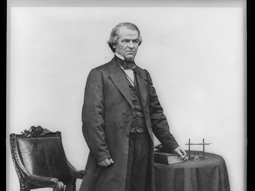 Andrew Johnson, appointed  military governor of Tennessee in March 1862 by President Abraham Lincoln.