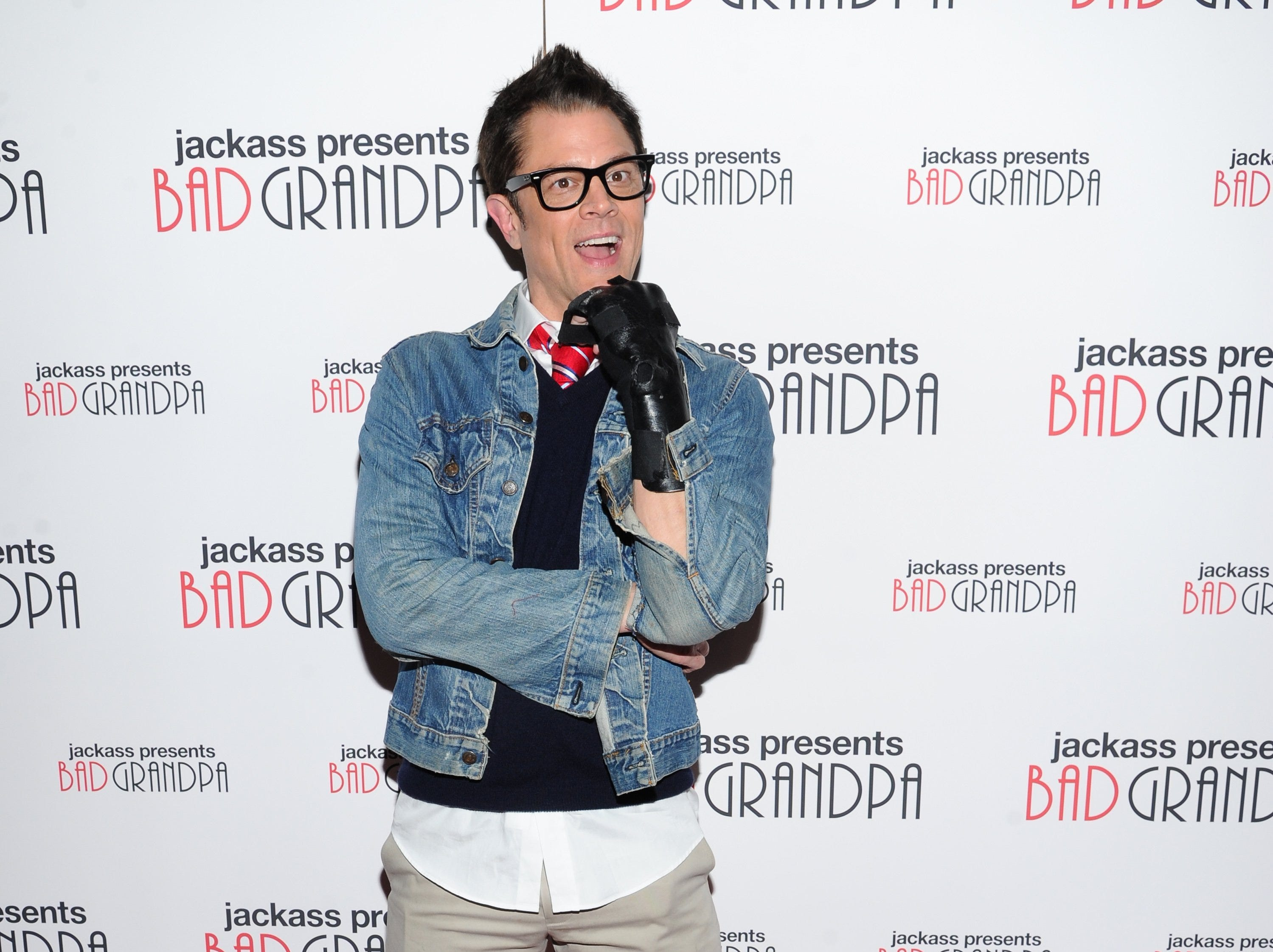 "Actor Johnny Knoxville attends a special screening of ""Jackass Presents: Bad Grandpa"" at the Sunshine Landmark Theater on Monday, Oct. 21, 2013, in New York."