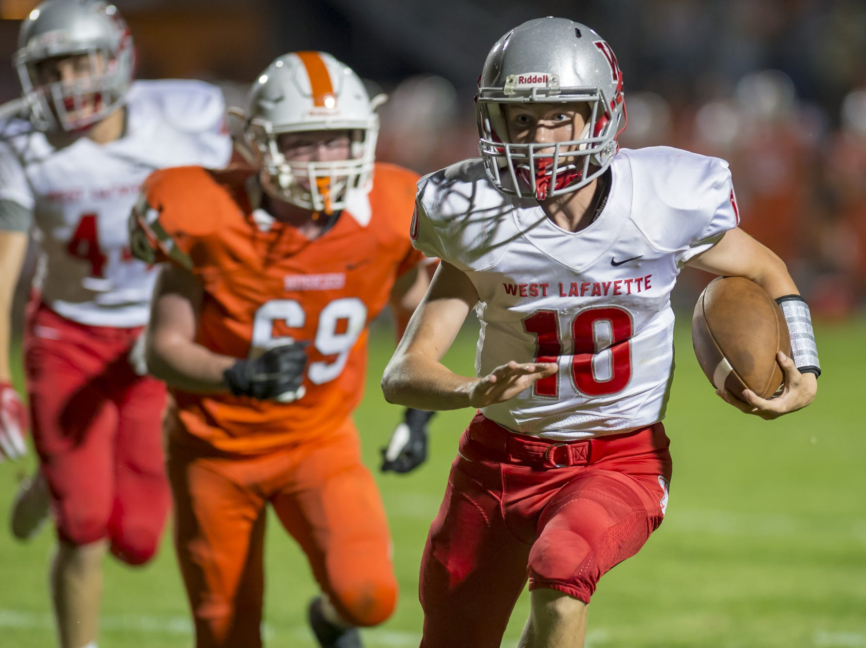 Action from West Lafayette at Hamilton Heights - The Red Devils won 76-0 to advance to 3-0 on the season.