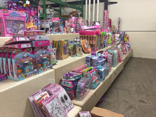These are some of the toys the Lancaster Fire Department will give to local needy children for Christmas this year.