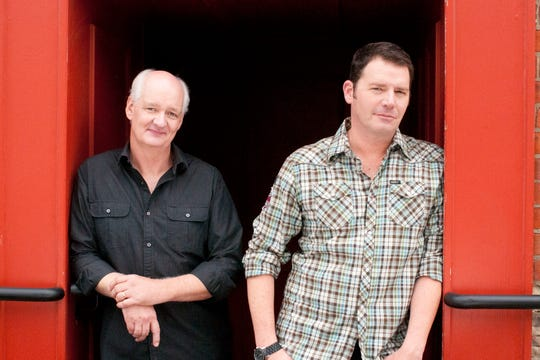 Colin Mochrie (left) and Brad Sherwood