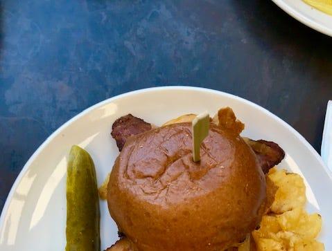 BBQ bison burger