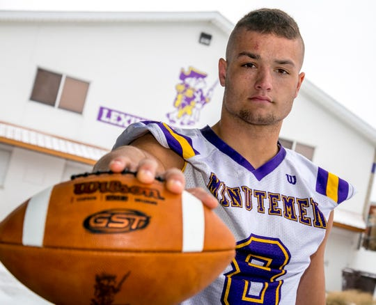 Cade Stover of the Lexington Minutemen Football team has been named Ohio's Mr. Football for 2018.