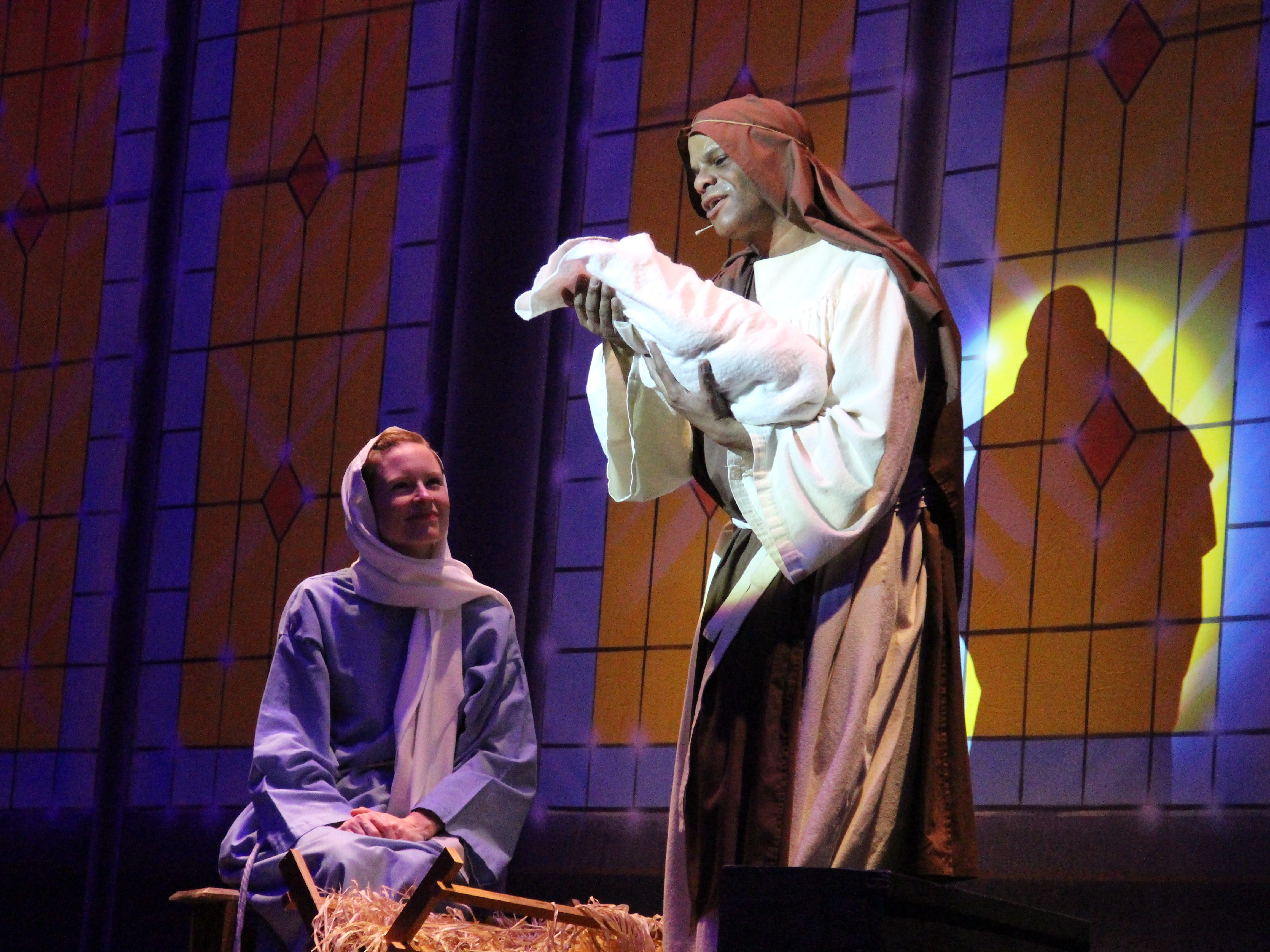 """Kim Bradshaw and John W. Garnes II play Mary and Joseph in the Marion Palace Theatre's annual production of """"Christmas at the Palace,"""" which takes place at 7:30 p.m. Friday, Nov. 30 and Saturday, Dec. 1 and at 2 p.m. Sunday, Dec. 2. Tickets are on sale and may be purchased at the Palace's box office, by phone or online."""