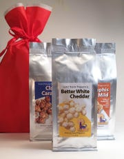 Wolf River Popcorn makes traditional caramel corn as well as a cheddar popcorn and a spicy Memphis barbecue caramel corn.