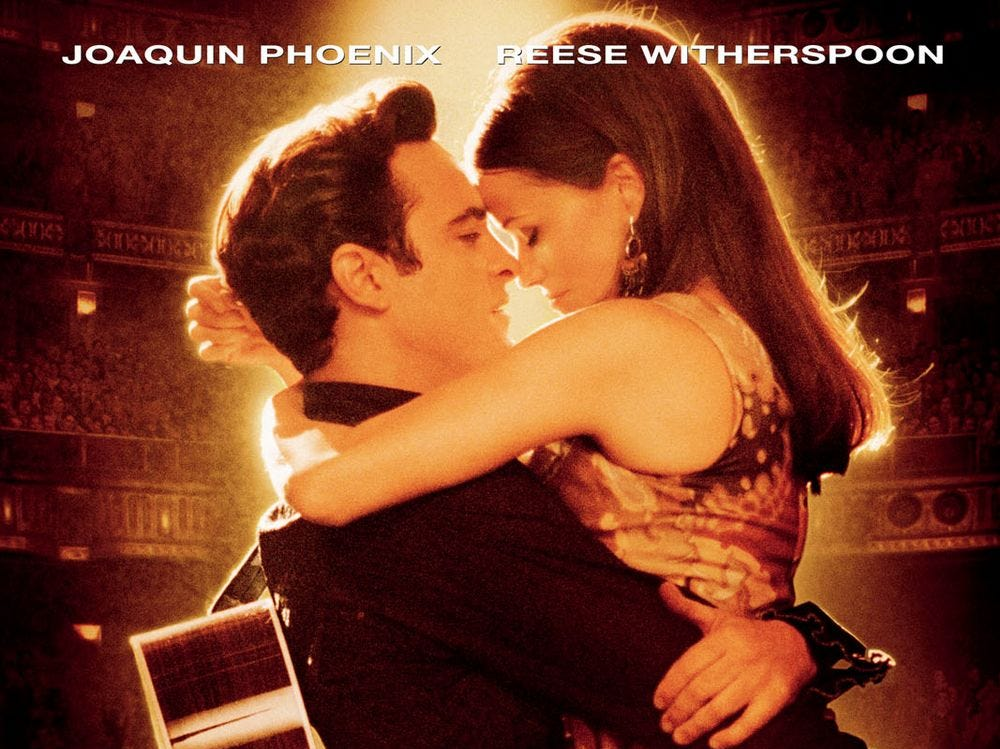 """Walk the Line"" (2005) - The movie about the life of Johnny Cash featured Joaquin Phoenix and Reese Witherspoon received five Oscar nominations. Witherspoon won for Best Performance by an Actress in a Leading Role."