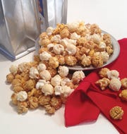 "Wolf River Popcorn offers a ""Taste of Memphis"" blend for the holidays that includes all three of its flavors."