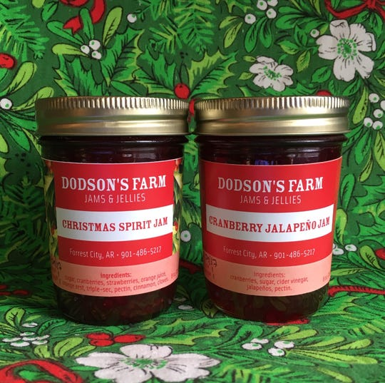Dodson's Farms makes two special holiday flavors every year: Christmas Spirit Jam and Cranberry Jalapeno Jam.