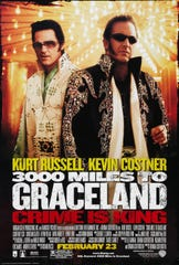 """3000 Miles to Graceland"" (2001) - Set during an Elvis impersonator convention, a group robs the Riviera Casino. The movie features Kevin Costner, Kurt Russell, Courteney Cox, Christian Slater and was nominated for five Razzie Awards."