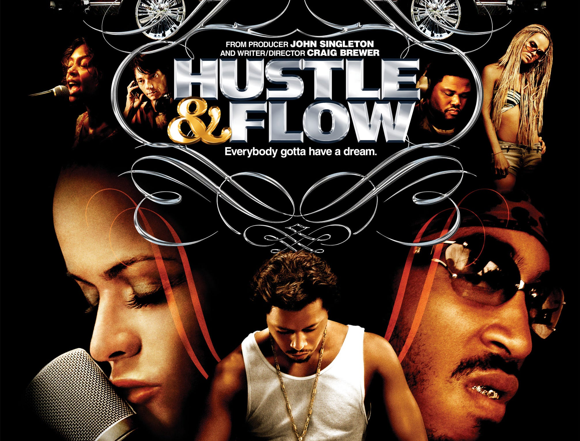 """Hustle & Flow"" (2005) - Terrence Howard stars as a pimp in Memphis who becomes a hip hop DJ. The movie also stars Ludacris and Anthony Anderson and received one Oscar for original song."