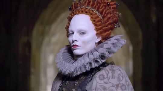 "Paleface: Margot Robbie is Elizabeth I in ""Mary, Queen of Scots."""