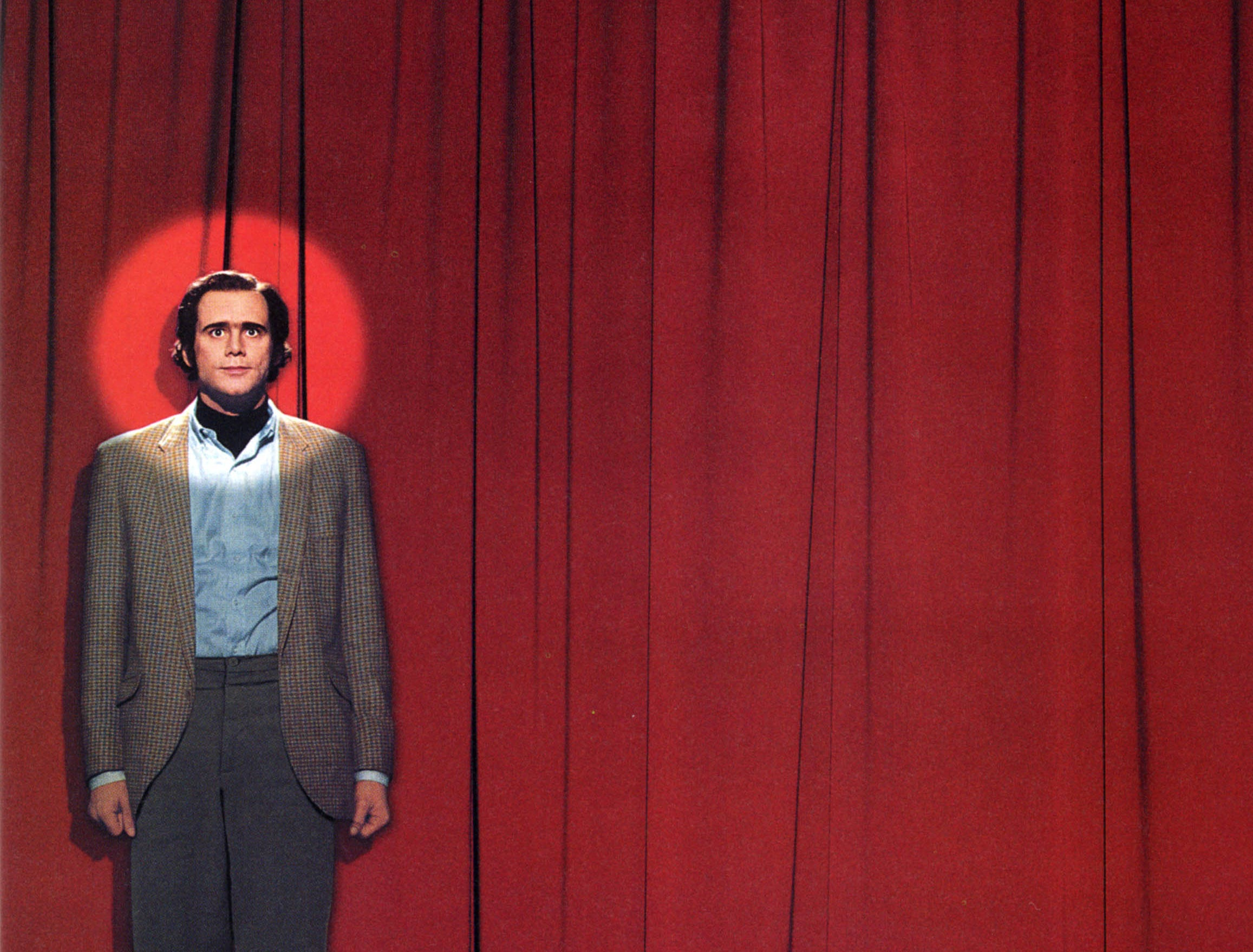 """Man on the Moon"" (1999) - Jim Carrey stars as the eccentric comedian Andy Kaufman. This Milos Forman film also stars Danny DeVito and won a Golden Globe for Carrey's performance."