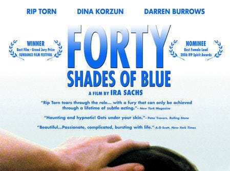 """Forty Shades of Blue"" (2005) - Memphis stars as the home to a Russian woman living with a older rock legend.  Staring Rip Torn and Dina Korzun."