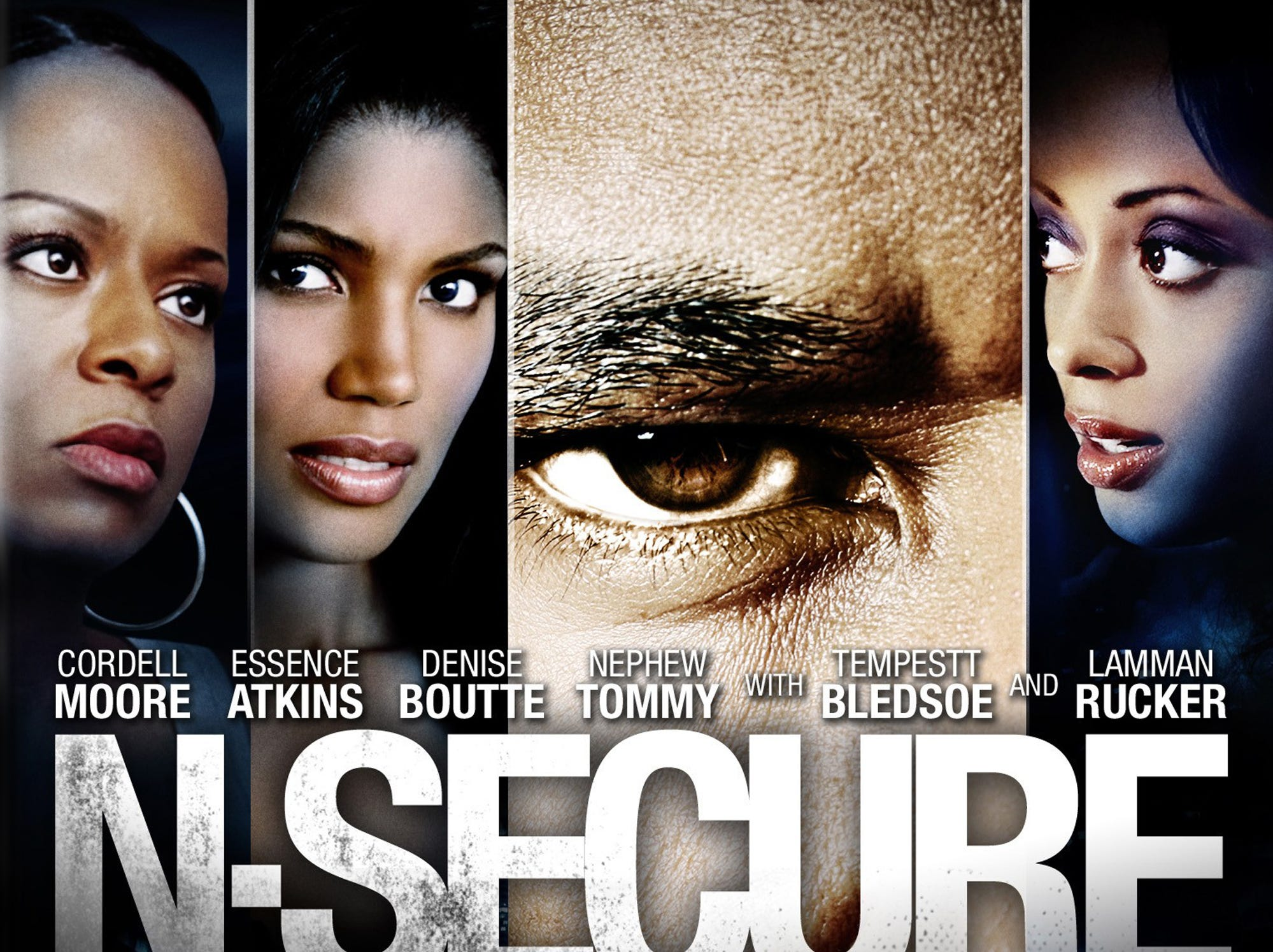 """N-Secure"" (2010) - This movie is described by IMDB as a ""no holds-barred thrilling drama mixed with murder, mayhem, and manipulation among affluent professionals.""  It features Tempestt Bledsoe, Cordell Moore, Essence Atkins and Denise Boutte"