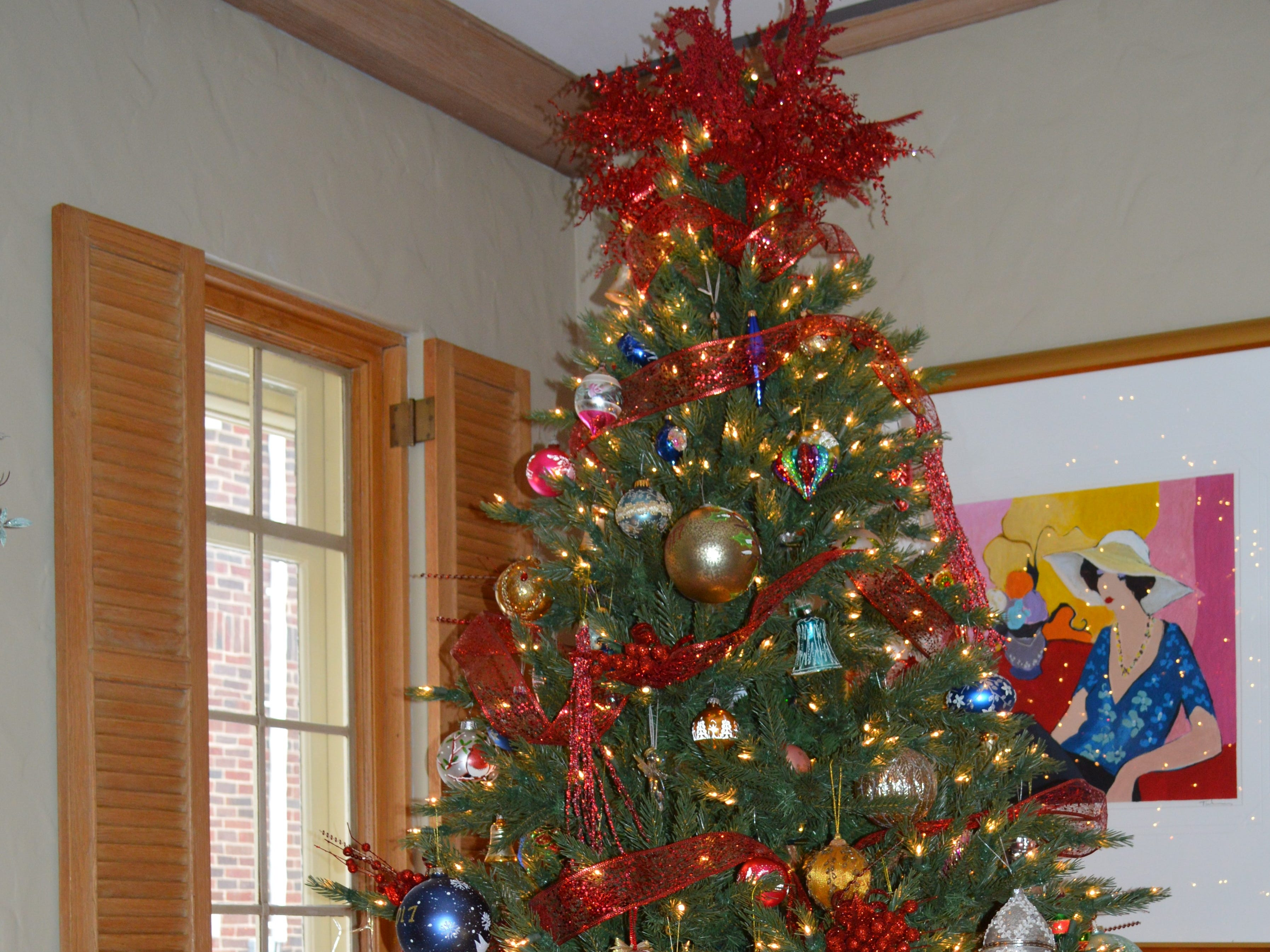 The Oelstrom's tree features a collection of ornaments Dann and Kathy Oelstrom gathered over the years.