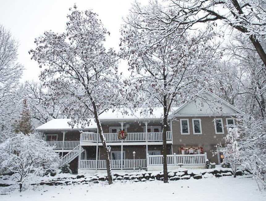 Get cozy in the Speckled Hen Inn on the outskirts of Madison during the holidays.