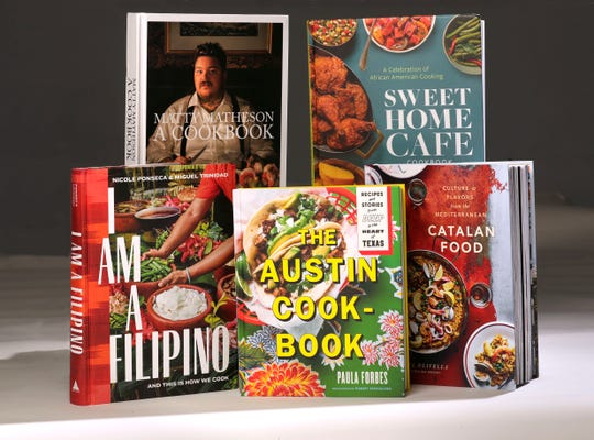 Books offer looks at a chef's life in Canada, African-American recipes, the food of Spain's Catalonia region, restaurant-worthy recipes from Austin, Texas, and recipes from the Philippines.