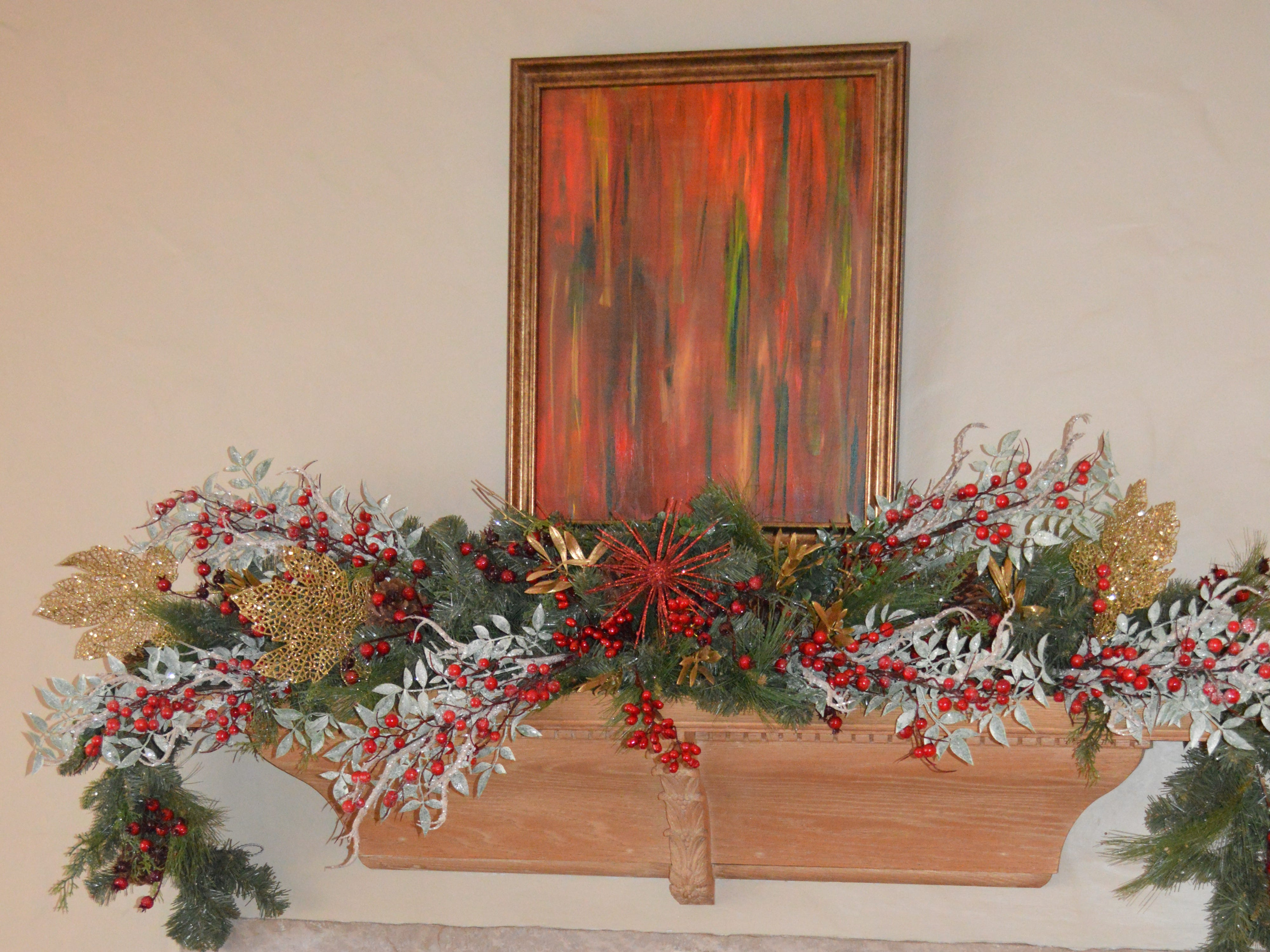 Kathy Oelstrom's mom painted the picture above the fireplace.