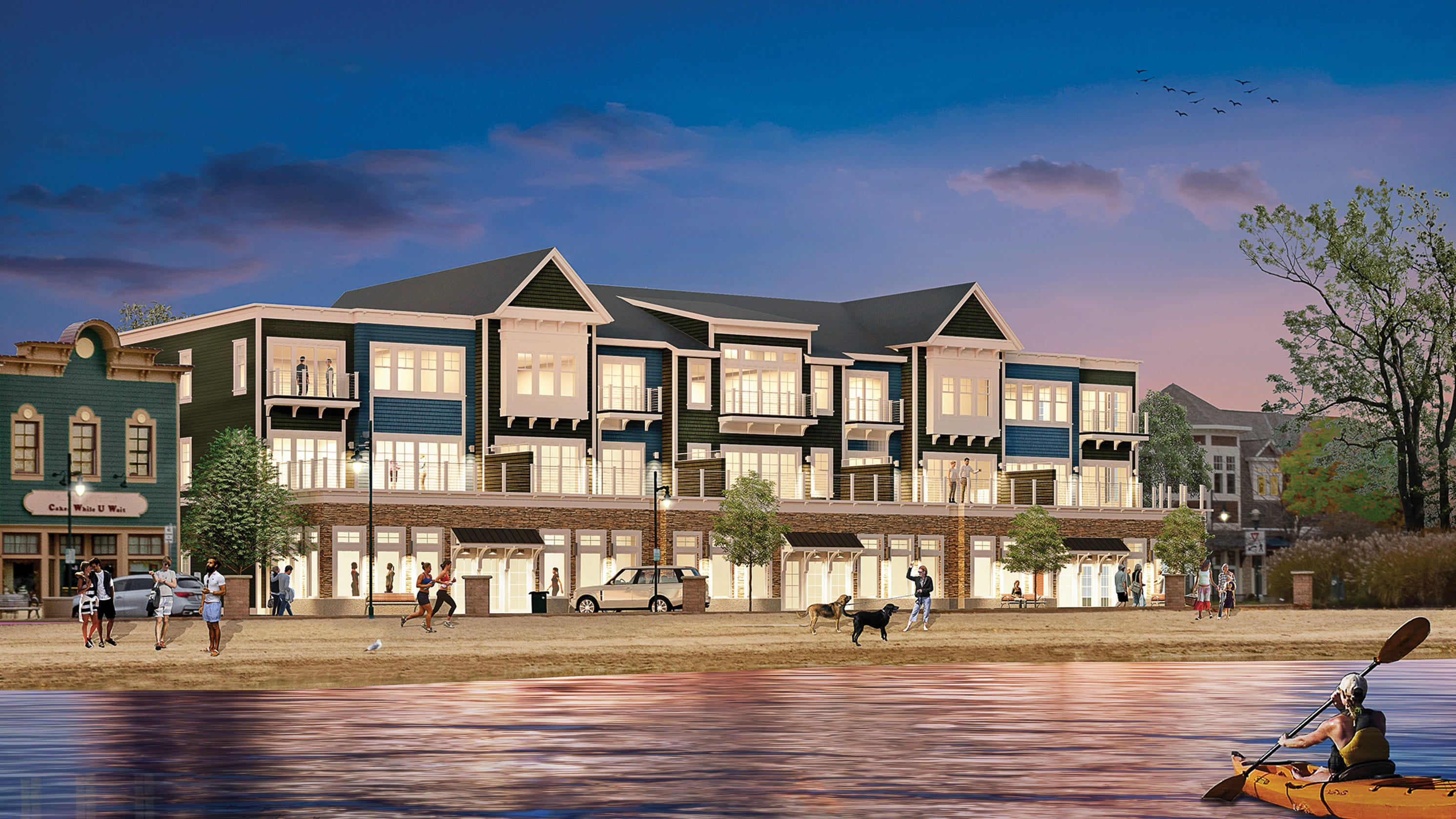 Condos After Dark 100 Wisconsin Avenue >> Pewaukee Lakefront Condo Complex Beachscapes Breaks Ground