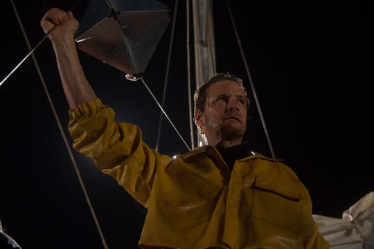 "Colin Firth is a man alone against the elements in ""The Mercy."""
