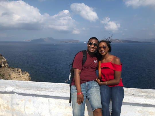 Newly married couple Robert and LaTasha Jenkins enjoy a honeymoon to Santorini and Athens Greece.