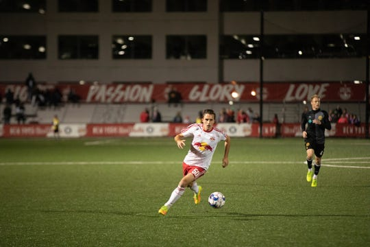 Midfielder Jared Stroud of Chester plays for Red Bulls II.