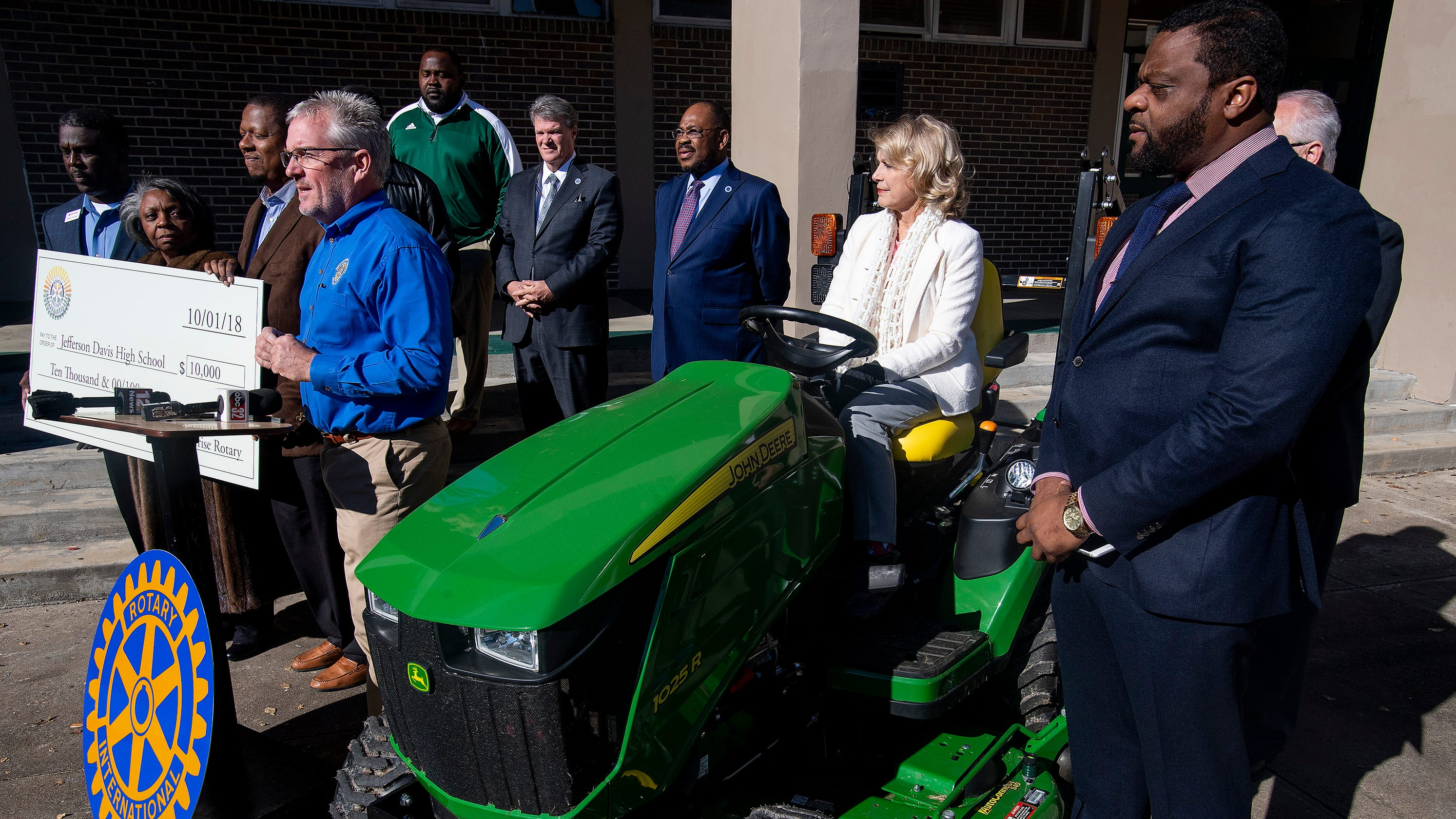 Jeff Davis High receives new tractor thanks to Rotary Club and