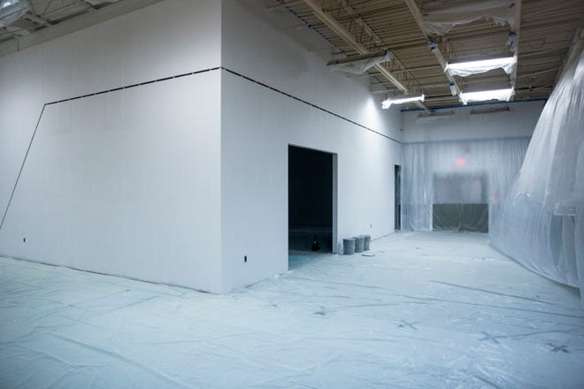 Drywall and more begin to shape out the space on the second floor of Madjax for Purdue Polytechnic. The school, which focuses on hands on manufacturing technology, is hoping to enroll students in either the spring or summer.