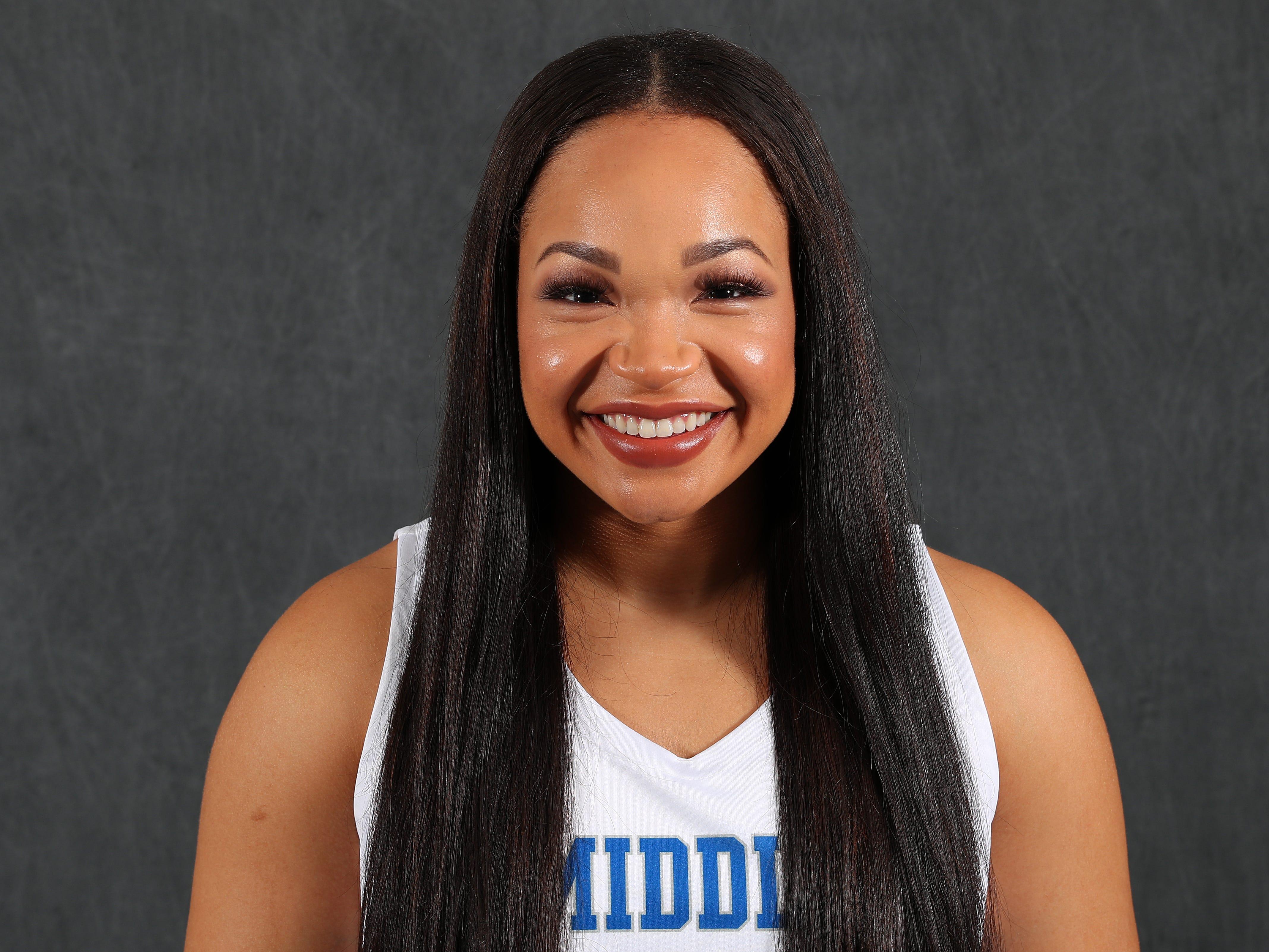 MTSU women's basketball player Alex Johnson
