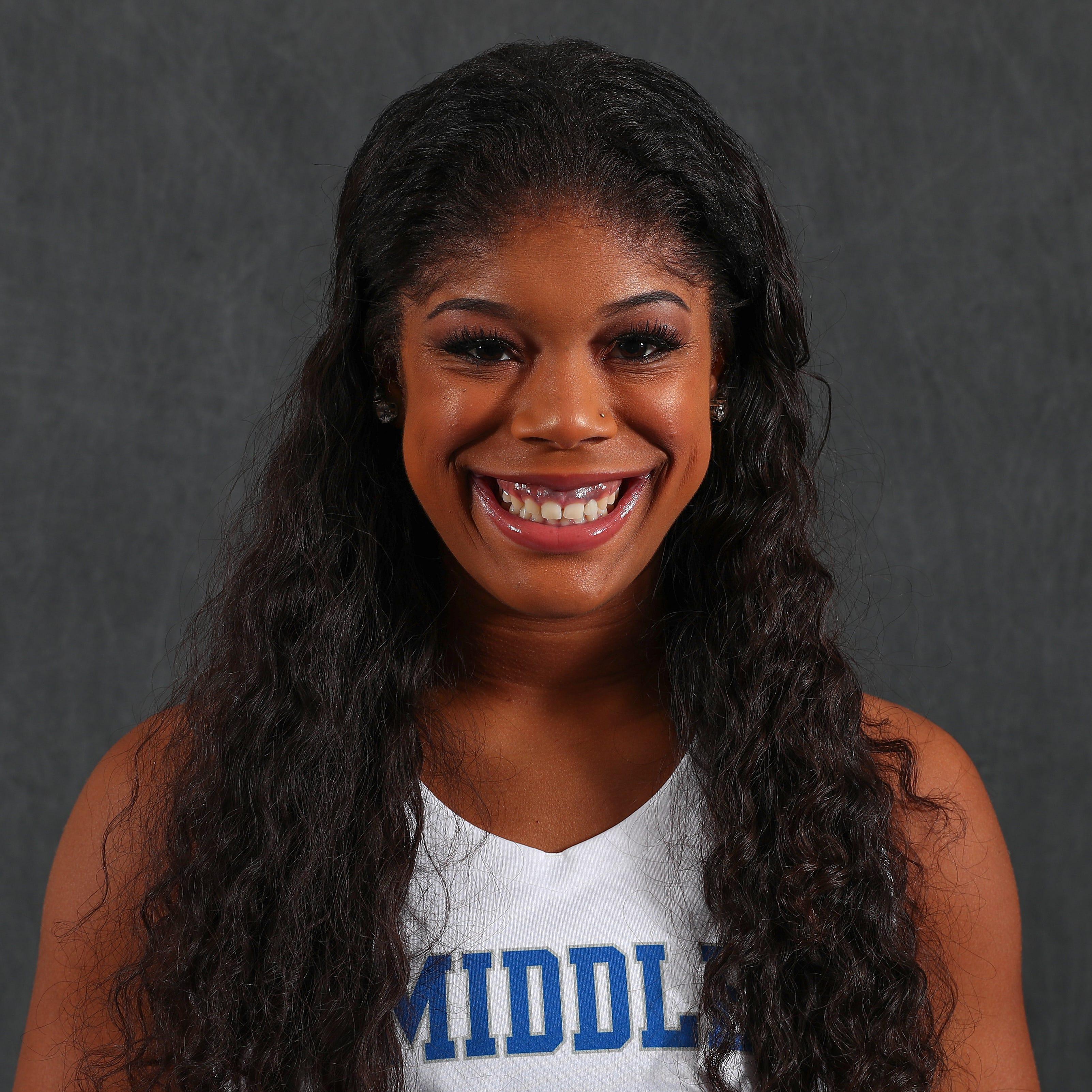 MTSU women's basketball player Mykia Dowdell