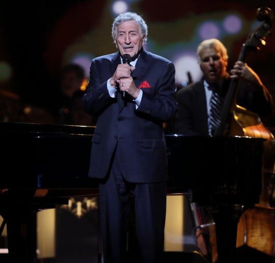 Tony Bennett performs during the filming of the 2018 CMA Country Christmas Thursday September 27, 2018 at Belmont's Curb Event Center.