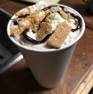 Wanda Joe's Coffee, located at 202 N Main St. in Ashland City, offers specialties like the S'mores drink, complete with whipped cream, chocolate and graham cracker bits.