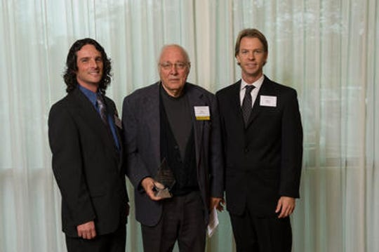 Community-Wide Volunteer Award recipient Don Beisswenger is pictured with Jim Snell and Brian Williams at the 23rd annual Mary Catherine Strobel Awards.