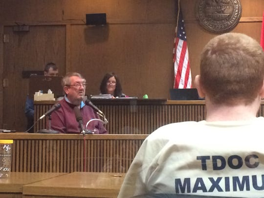 Joe Daniels, the father of Joseph Daniels, testifies in Dickson County Circuit Court on Tuesday that Joseph needs to be moved back to Dickson County.
