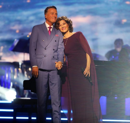 "Michael W. Smith and Amy Grant perform during the filming of ""CMA Country Christmas"" on Sept. 27, 2018, at Belmont University's Curb Event Center."