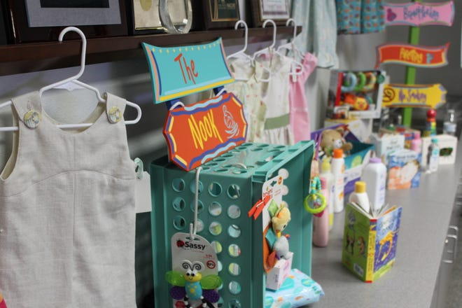 Mothers-to-be can exchange points for goods like these in the Collier County Community Nook Project.